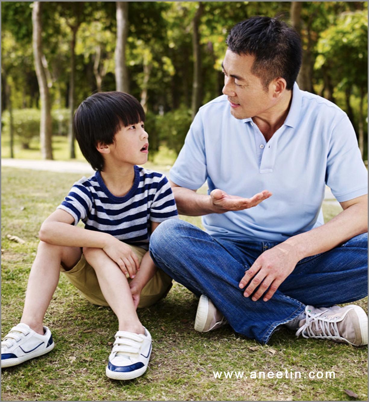 parents explaining to kids